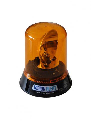 Duża, obrotowa lampa ostrzegawcza z lustrem serii: 503