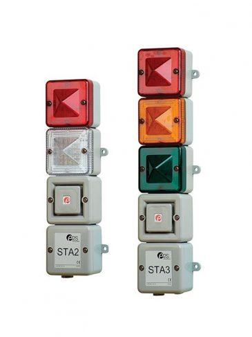 Sygnalizator modułowy z modułem dźwiękowym serii: STA