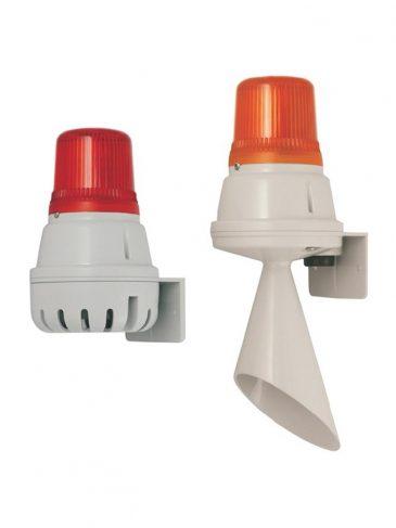 Sygnalizator świetlno-dźwiękowy LED serii: H100BL/H100TL, 100dB