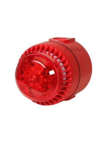Uniwersalny sygnalizator świetlno-dźwiękowy LED serii: ROS, 110dB