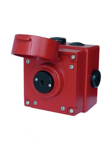 Przycisk iskrobezpieczny z klapką ochr., kasowalny narzędziem, serii: IS-CP4A-PT / IS-CP4B-PT