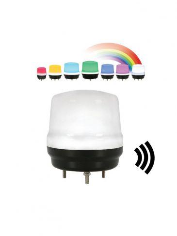 Multikolorowa lampa LED z dźwiękiem serii: QMCL80, IP65