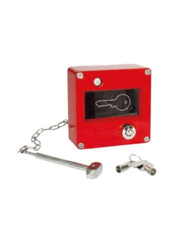 Skrzynka na klucz ewakuacyjny ze zbijakiem i zamkiem serii: 1493