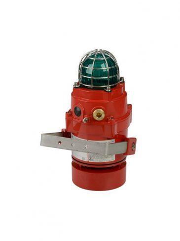 BExCS110-L2DPR Kombinowany, świetlno-dźwiękowy sygnalizator LED, 115dB