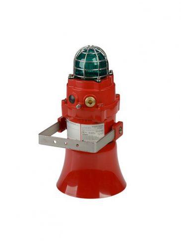 BExCS110-L2DPF Kombinowany, świetlno-dźwiękowy sygnalizator LED, 117dB