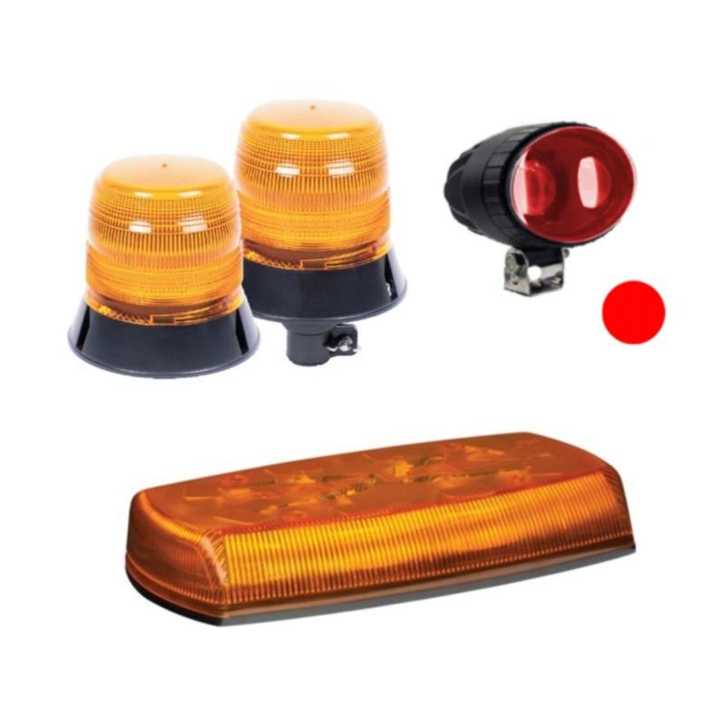 Lampy błyskające i ostrzegawcze oraz minibelki dla pojazdów